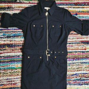 🐺 Michael Kors Zip Front Shirt Dress 🐺